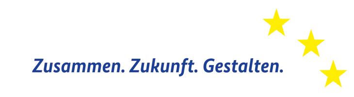 Logo von Zusammen. Zukunft. Gestalten, dem Motto der aktuellen ESF-Förderperiode