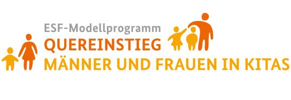 """Logo des Programms """"Quereinstieg - Männer und Frauen in Kitas"""""""